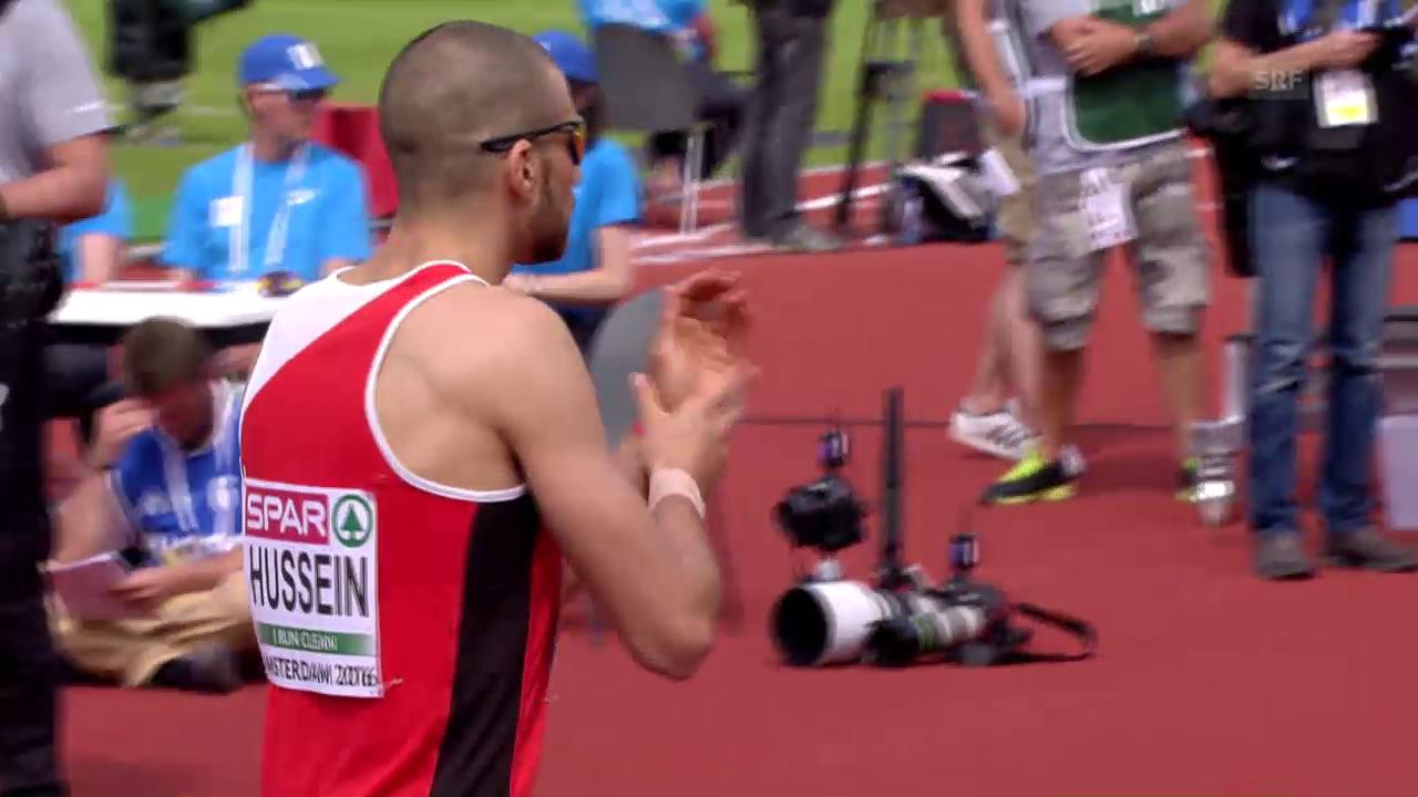 Der Halbfinal-Lauf von Hussein in Amsterdam
