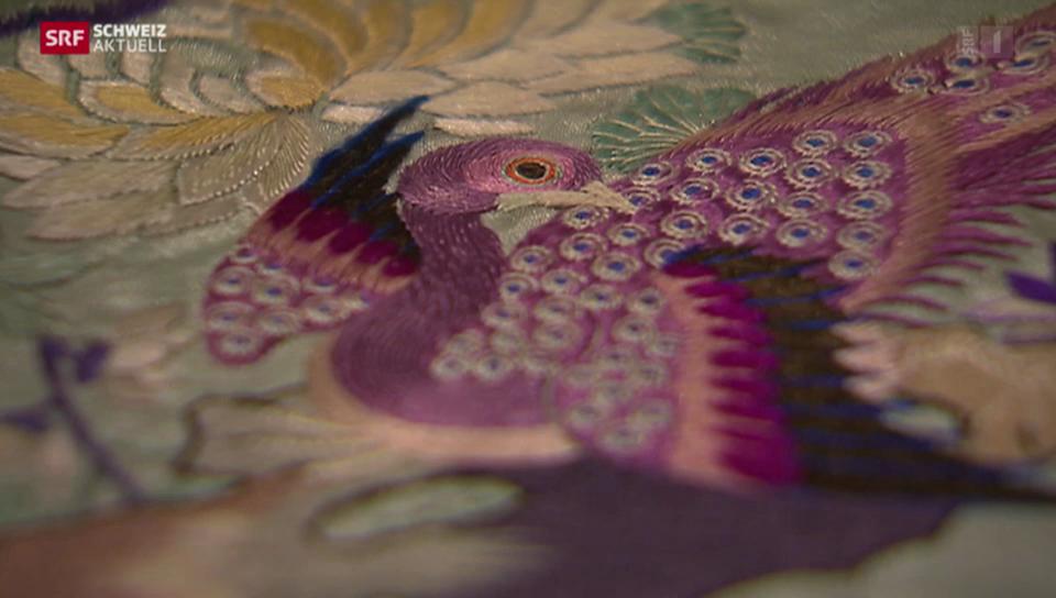 Asiatischer Einfluss auf St. Galler Stickereien