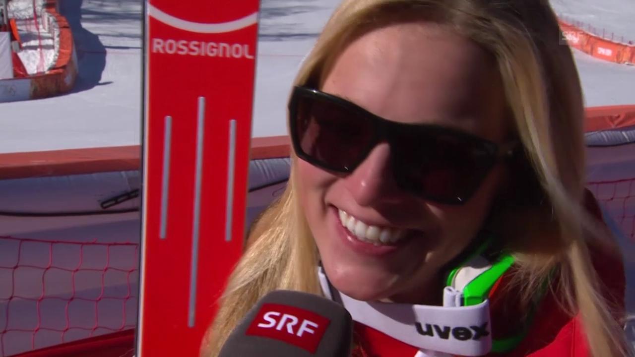 Ski: Abfahrt der Frauen, Interview mit Lara Gut (sotschi direkt, 12.02.2014)
