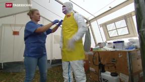 Video «Vorbereitungs-Kurse für Ebola-Einsatz in Westafrika» abspielen
