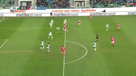 Link öffnet eine Lightbox. Video Luganos Sadiku trifft sehenswert gegen St. Gallen abspielen