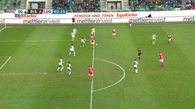 Video «Luganos Sadiku trifft sehenswert gegen St. Gallen» abspielen