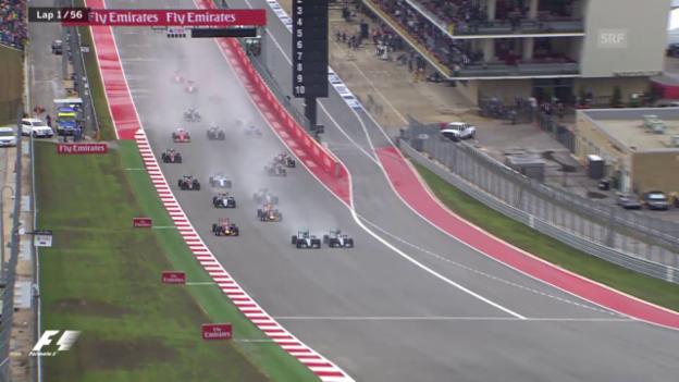 Video «Formel 1: GP der USA in Austin, Startphase» abspielen