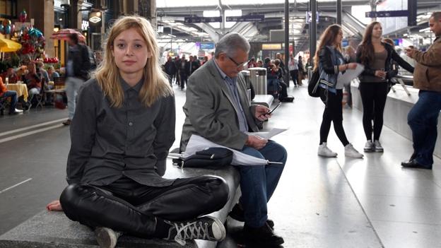 Lara Stoll in der neuen Zürcher Bahnhofsunterführung