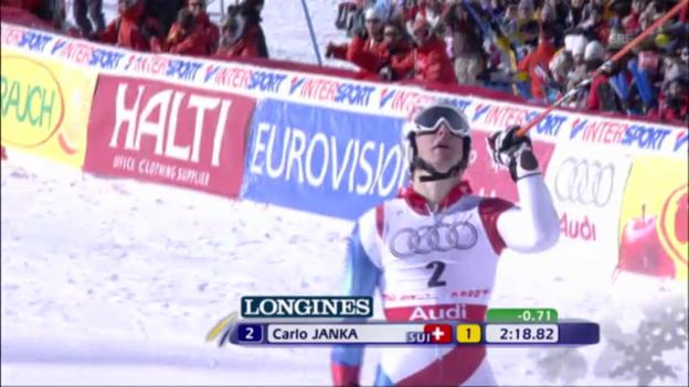 Video «Ski-WM 2009: Janka fährt zu Riesenslalom-Gold» abspielen