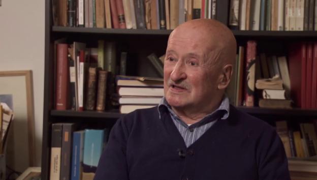 Video «Giovanni Orelli im Dokfilm «Weggehen, um anzukommen» (Ausschnitt)» abspielen