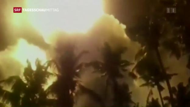 Video «Tödliches Inferno in Indien» abspielen