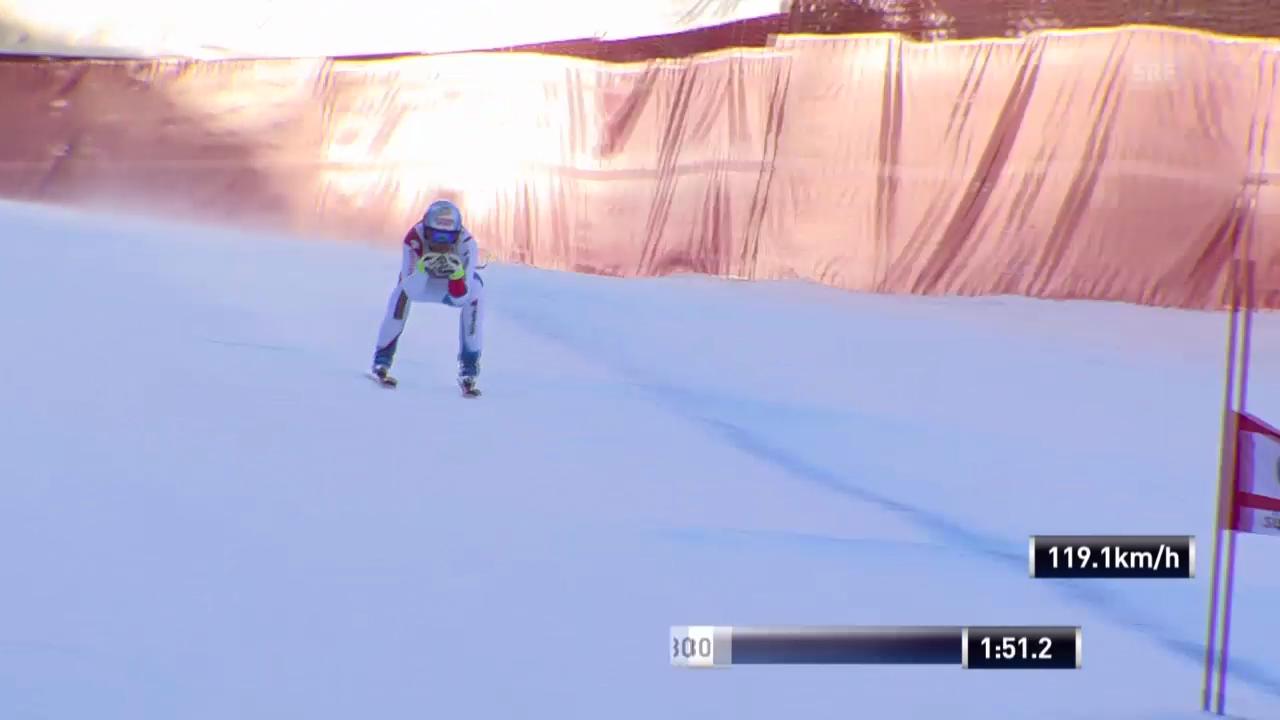 Ski Alpin: Abfahrt in Gröden, Fahrt von Didier Defago