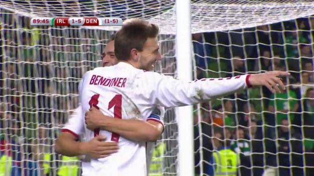 Video «Dänemark löst das WM-Ticket gegen Irland» abspielen