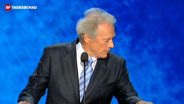 Eastwoods Auftritt beim Parteikongress (englisch)