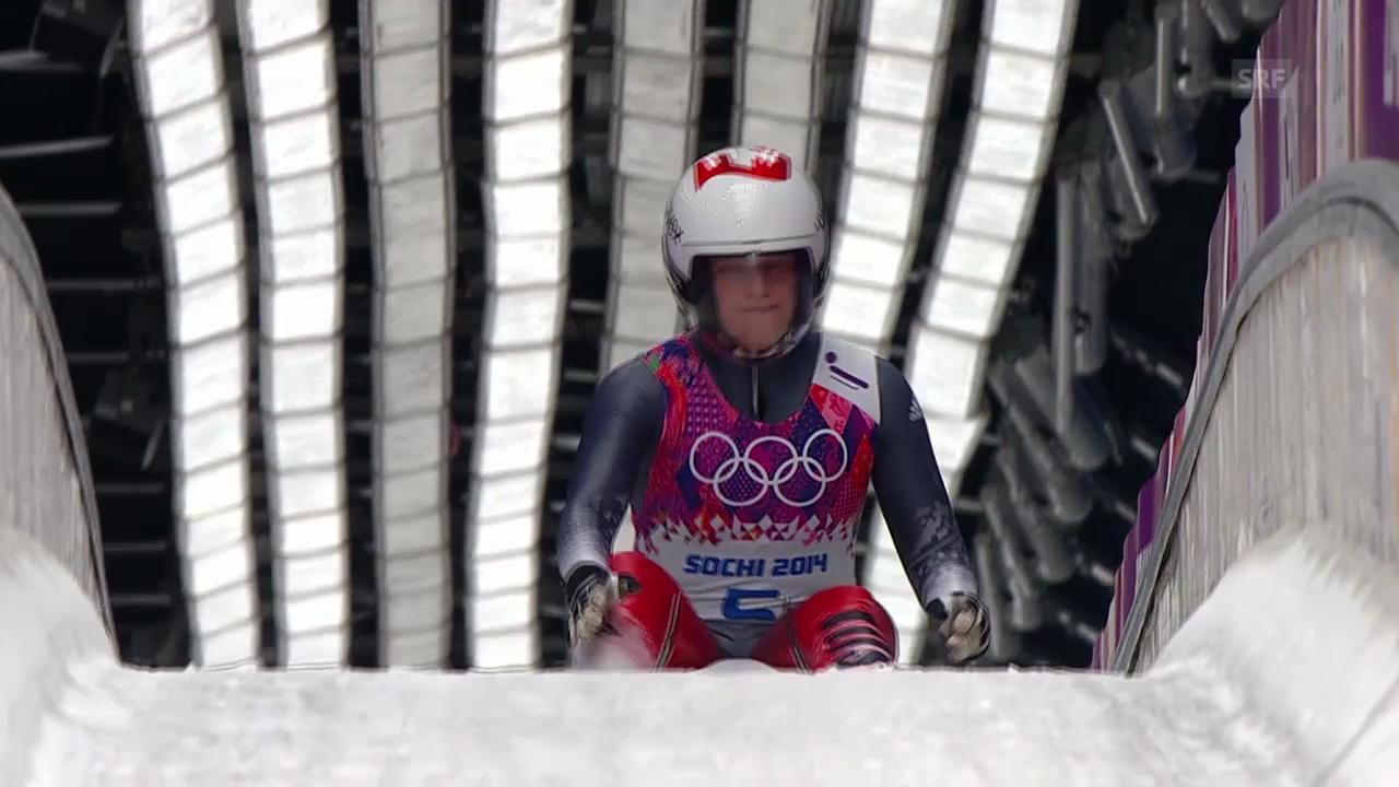 Rodeln: 3. Lauf von Martina Kocher (sotschi direkt, 11.02.2014)