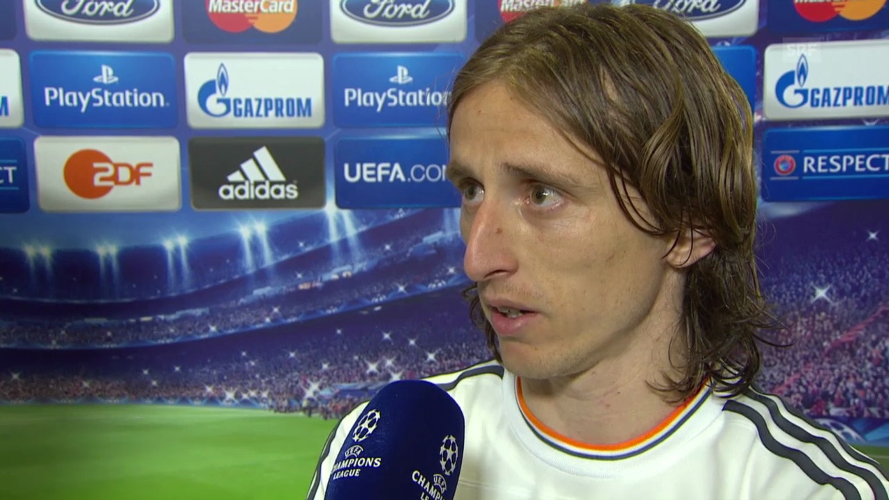 Fussball: Champions League, Interview mit Luca Modric