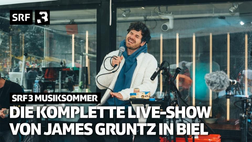 Das ganze Live-Konzert von James Gruntz in Biel