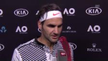Video «Federer: «Ich kam nur schwer ins Spiel rein»» abspielen