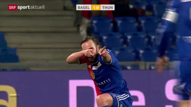 Video «Fussball: Super League, Gashis Kunstschuss gegen Thun» abspielen