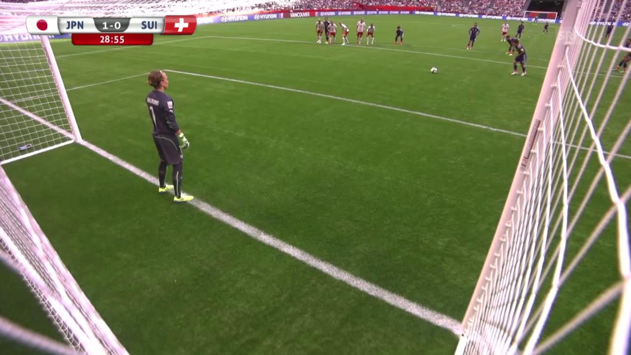 Fussball: FIFA Frauen-WM, Schweiz - Japan, Miyama trifft mittels Penalty