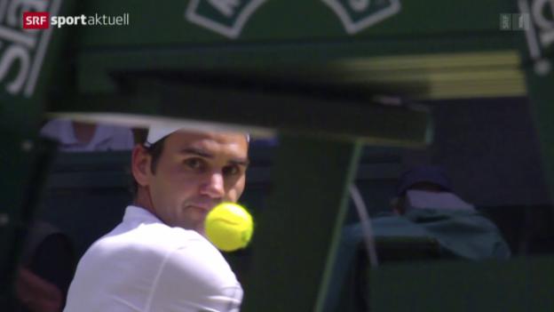 Video «Tennis: Wimbledon, Federer - Groth» abspielen