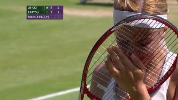 Video «Tennis: Lisicki kämpft im 2. Satz des Wimbledon-Finals mit den Tränen» abspielen
