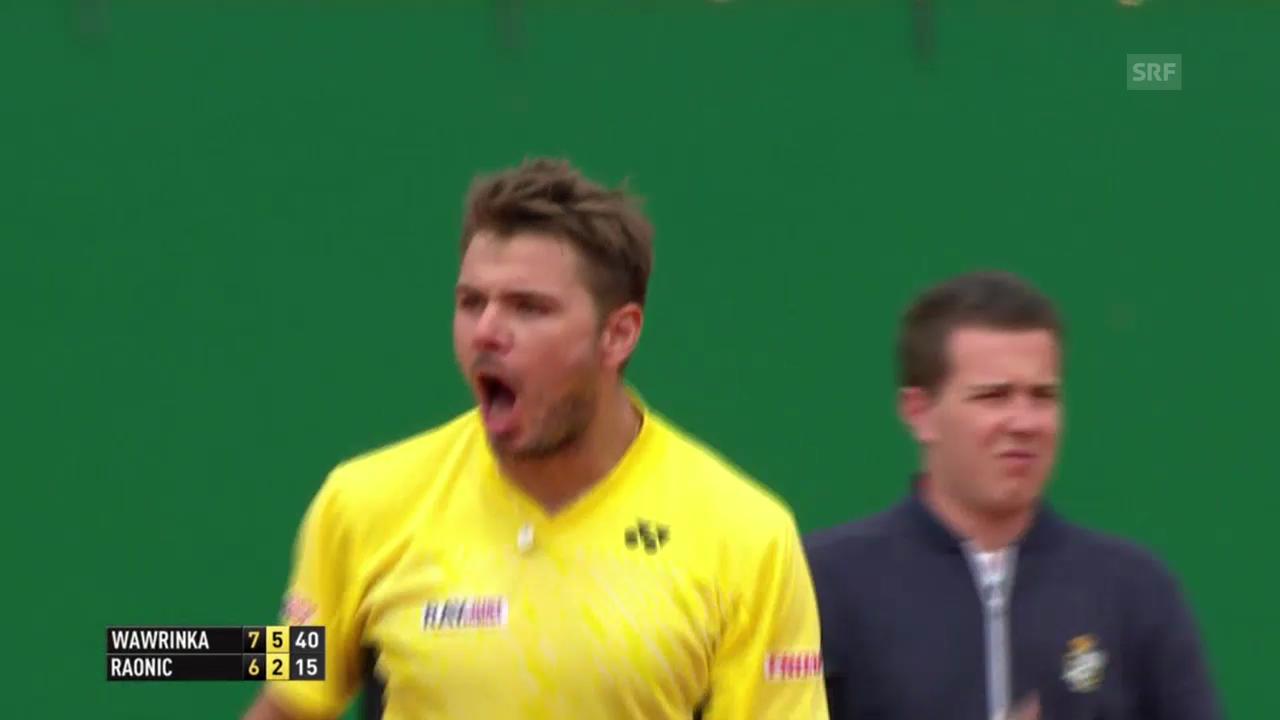 Tennis: ATP 1000 Monte Carlo, Viertelfinal Wawrinka - Raonic