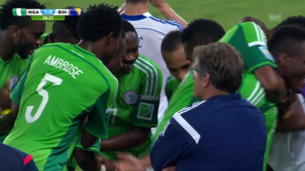 Video «Fussball: WM 2014, NGA-BIH, Highlights» abspielen