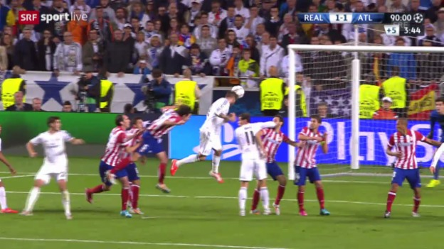 Video «Fussball, Champions League: Zsf. Final Real - Atletico» abspielen