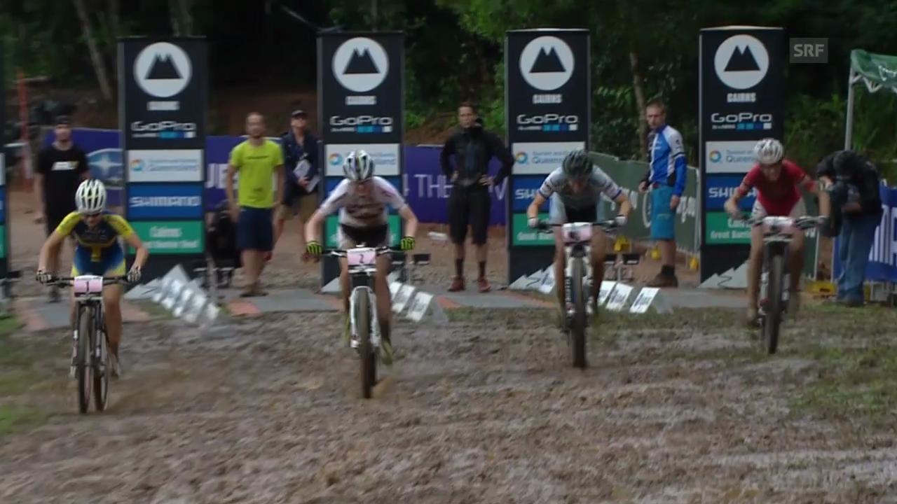 Mountainbike: Weltcup in Cairns, Eliminator, Final Frauen
