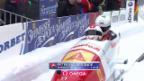 Video «Bob: WM Winterberg, Zweierbob, 2. Lauf Rico Peter» abspielen