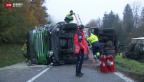 Video «LKW rammt Linienbus» abspielen