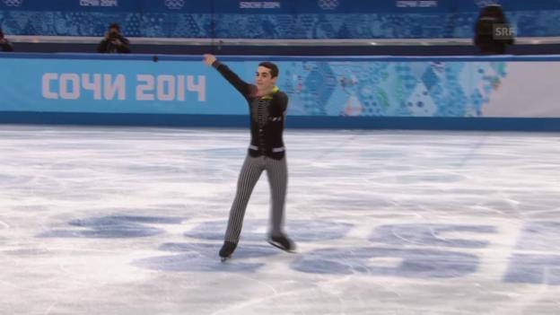 Video «Eiskunstlauf, Männer: Kurzprogramm von Javier Fernández (sotschi direkt, 13.2.2014)» abspielen