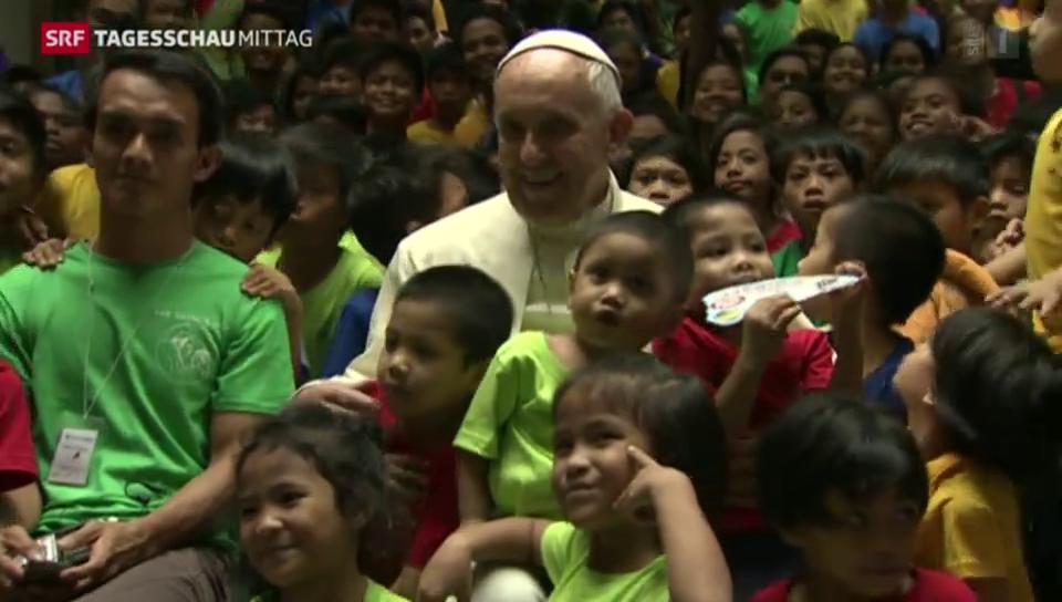 Papst besucht die Philippinen