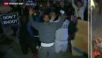 Video «Wut über Jury-Entscheid von Ferguson» abspielen