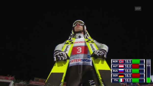 Video «Skispringen: Vierschanzentournee in Oberstdorf («sportaktuell», 29.12.2013)» abspielen