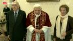 Video «Papst-Rücktritt sorgt für wilde Geschichten» abspielen