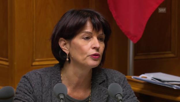 Video «Doris Leuthard: «Die Initiative geht zu weit»» abspielen