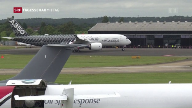 Video «Optimistische Flugzeugbauer in Farnborough» abspielen