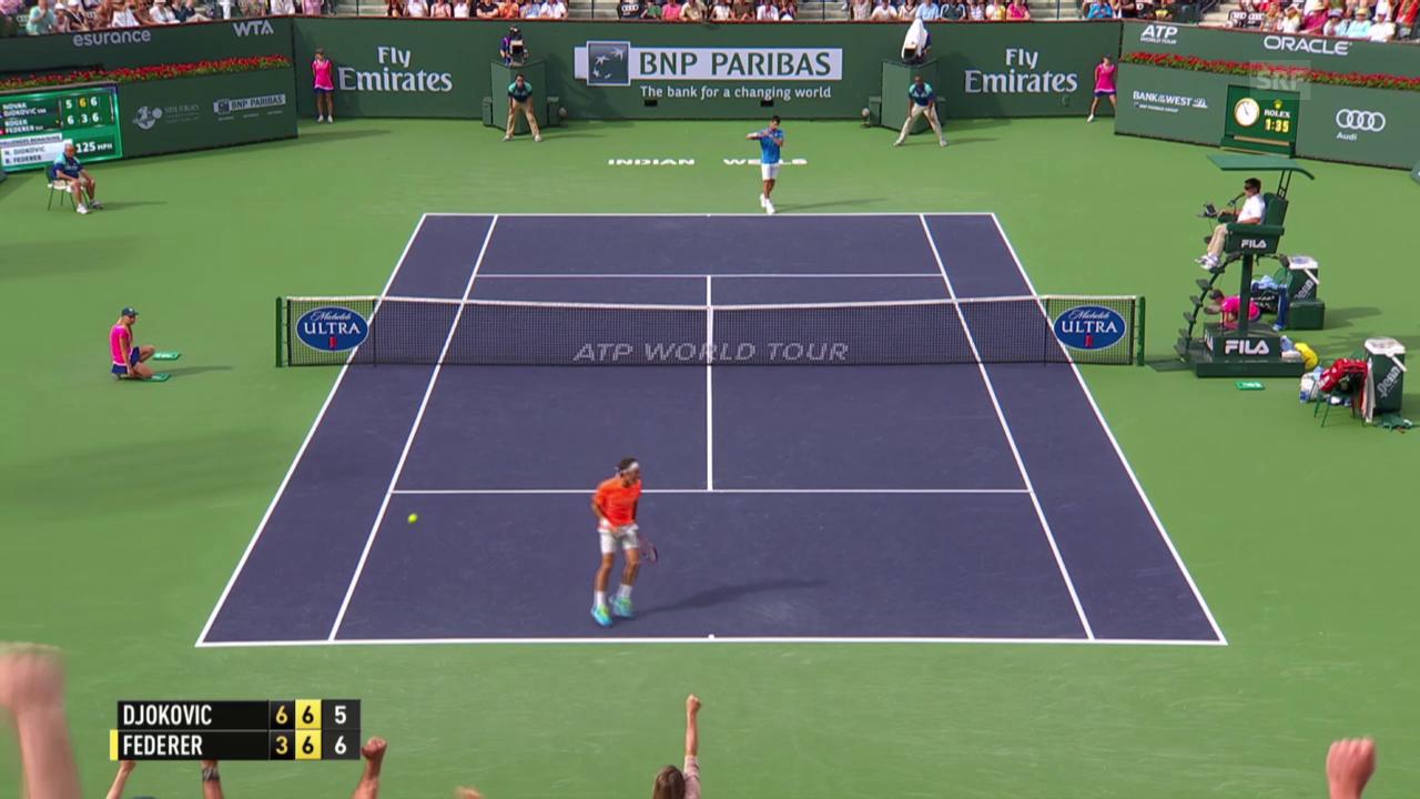 Tennis: Indian Wells Final, Djokovic-Federer, 2. Satz