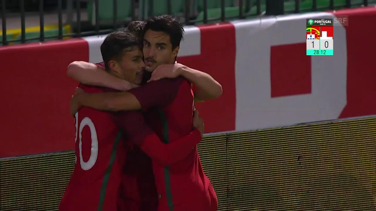 Die Tore bei Portugal - Schweiz