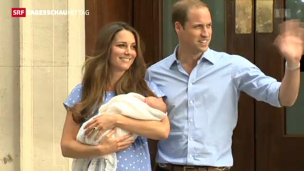 Video «William und Kate präsentieren ihr Kind» abspielen