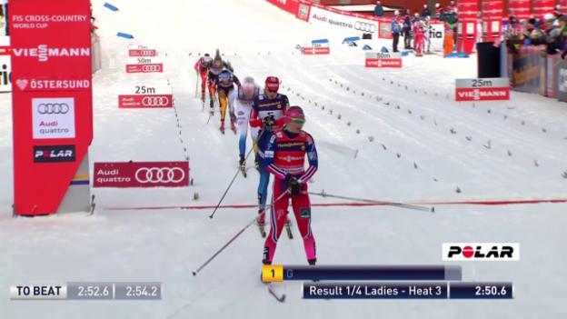 Video «Langlauf: Sprint in Östersund, Viertelfinal von Laurien van der Graaff» abspielen
