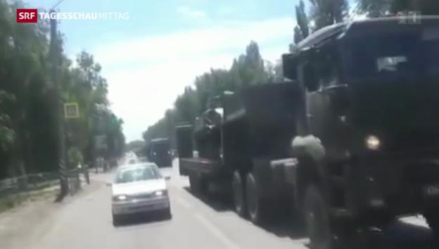 Video «Schwere Gefechte in der Ukraine» abspielen