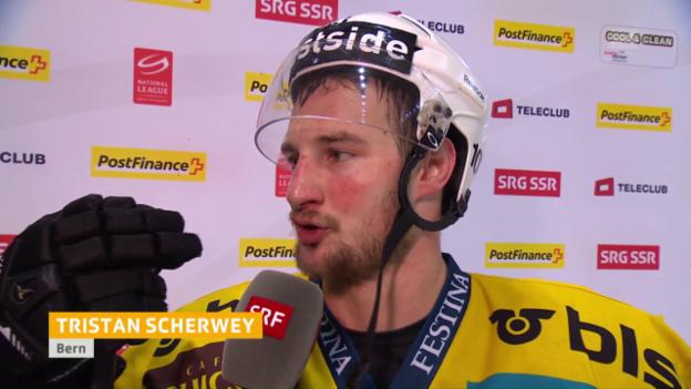 Video «Ein glücklicher Tristan Scherwey im Interview» abspielen