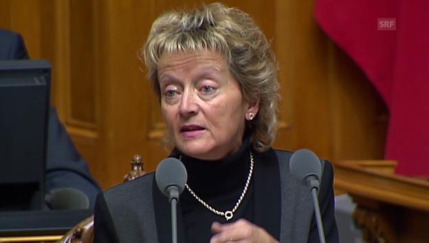 Video «Bundesrätin Widmer-Schlumpf: «Die Alternative ist kein Vertrag.»» abspielen