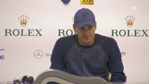 Video «Tennis: ATP Schanghai, Federer zu seiner Startniederlage» abspielen