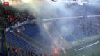Video «Fussball: Super League, Aarau schliesst den Gästesektor» abspielen