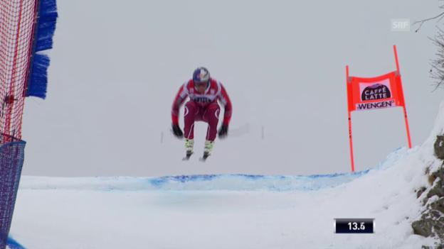Video «Die Trainingsfahrt von Svindal in Wengen» abspielen
