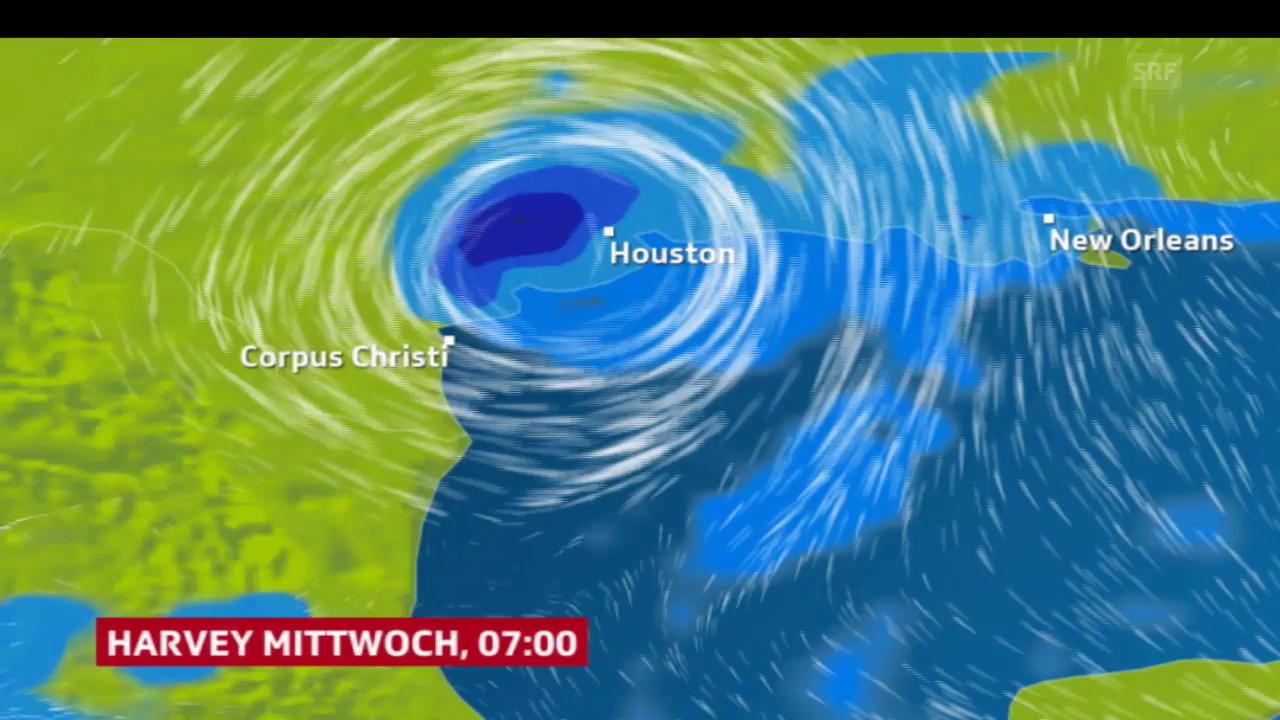 Prognose für Hurrikan «Harvey»