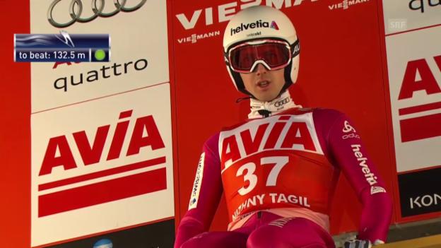 Video «Skispringen: Weltcup in Nischni Tagil, Sprünge Ammann» abspielen