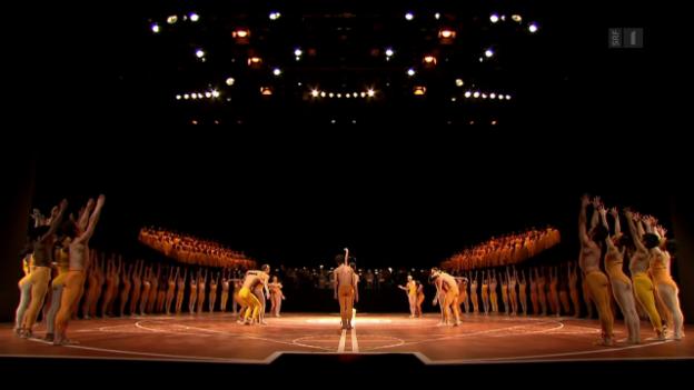 Video «Götterfunken – das Béjart-Ballet tanzt wieder Beethovens Neunte» abspielen