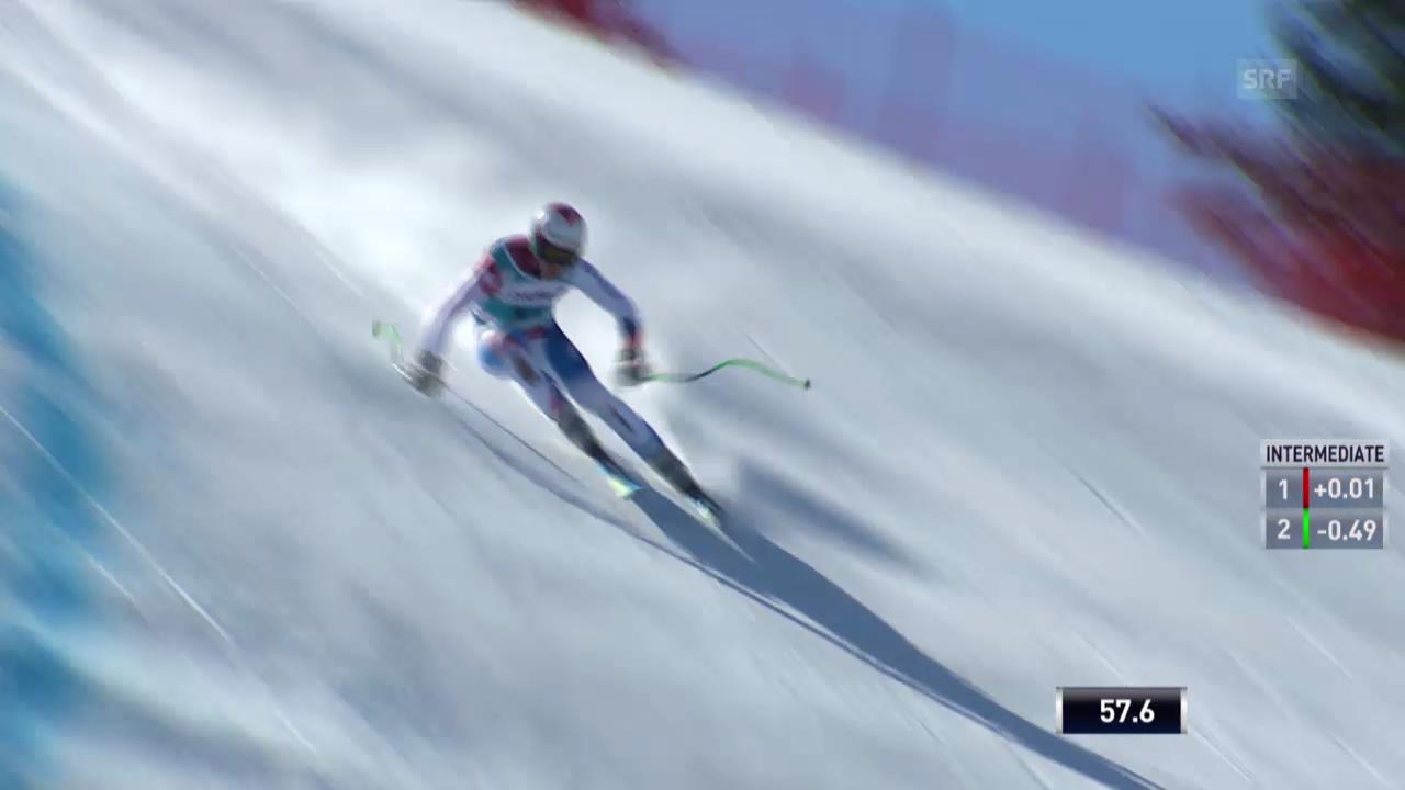 Ski: Weltcup der Männer, Abfahrt auf der Lenzerheide, Die Fahrt von Sandro Viletta (12.03.2014)