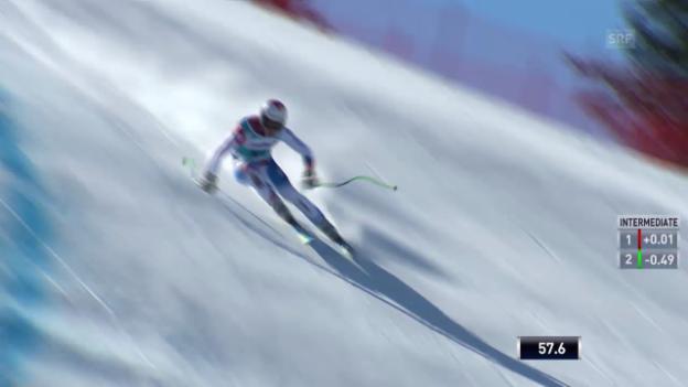 Video «Ski: Weltcup der Männer, Abfahrt auf der Lenzerheide, Die Fahrt von Sandro Viletta (12.03.2014)» abspielen
